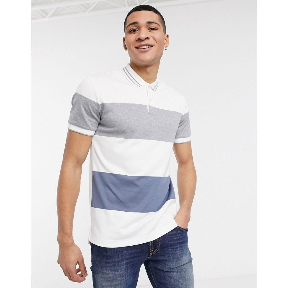 ヒューゴ ボス BOSS メンズ ポロシャツ トップス【Business Parlay tipped polo shirt】White