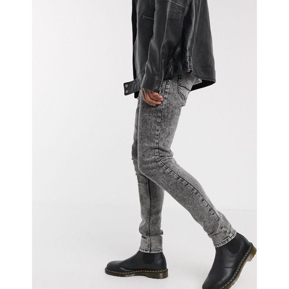 エイソス ASOS DESIGN メンズ ジーンズ・デニム ボトムス・パンツ【high waisted skinny jean in vintage washed black】Washed black