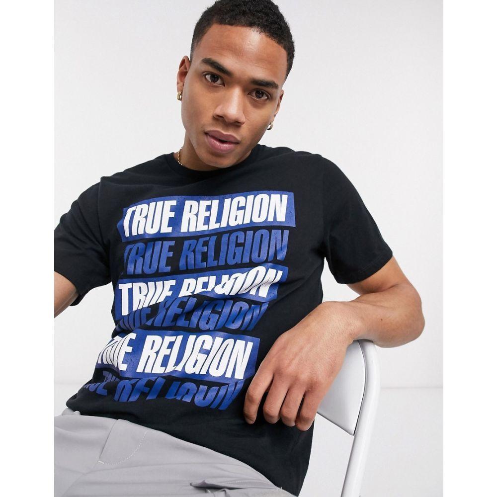 トゥルー レリジョン True Religion メンズ Tシャツ トップス【logo t-shirt】Black
