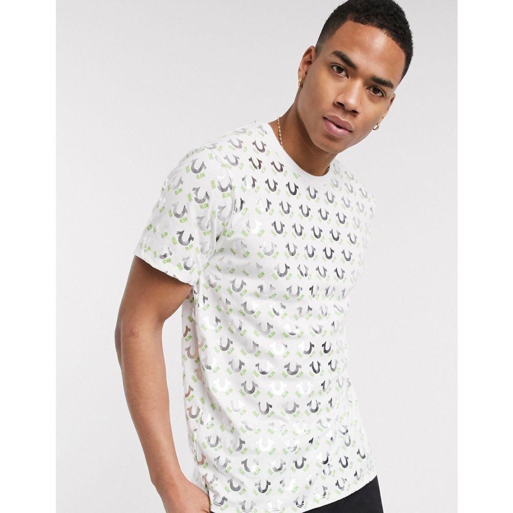 トゥルー レリジョン True Religion メンズ Tシャツ トップス【all over horeseshoe t-shirt】White