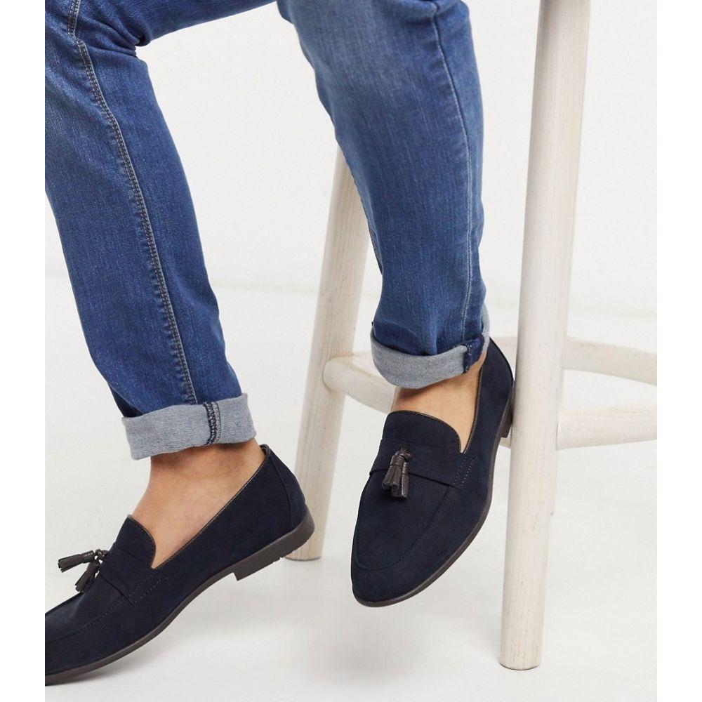 トップマン Topman メンズ ローファー シューズ・靴【loafer in navy】Navy