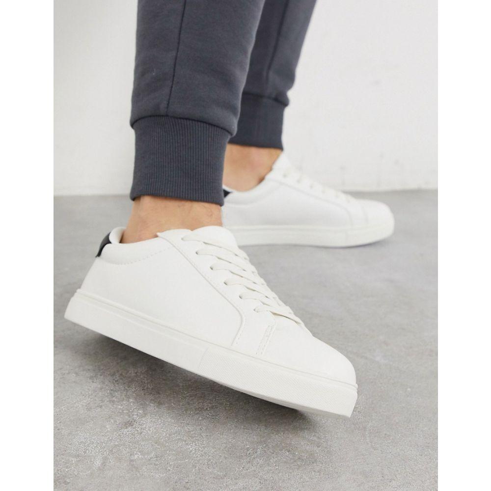 ブレイブソウル Brave Soul メンズ スニーカー シューズ・靴【trainers in white with contrast black】White black
