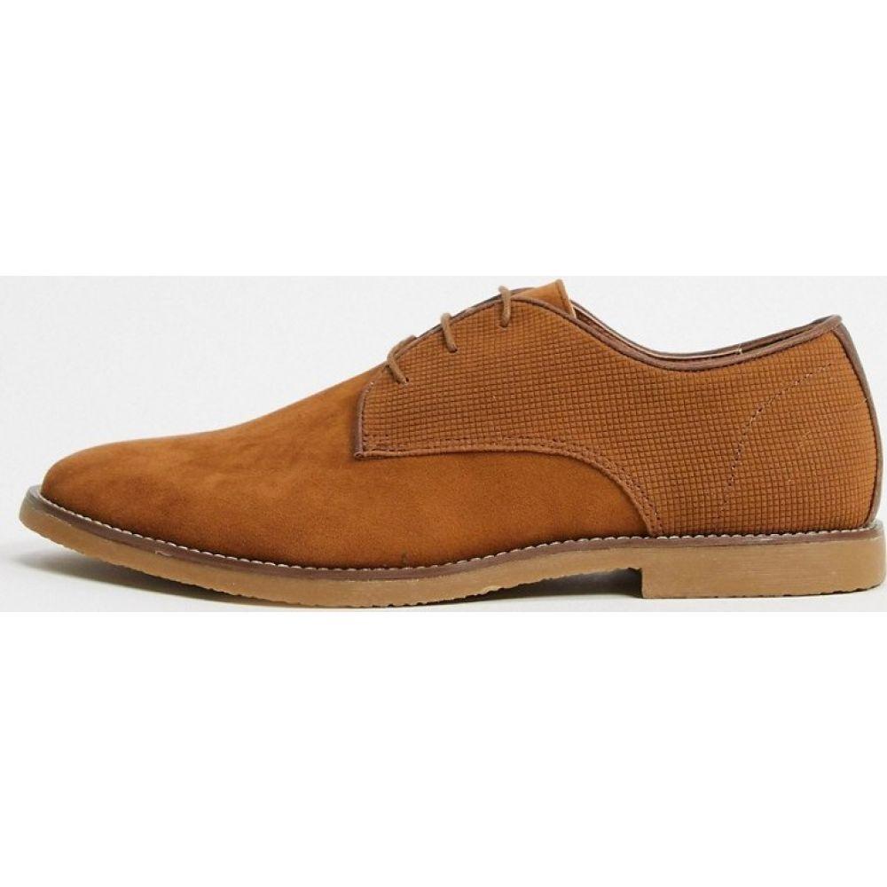 トップマン Topman メンズ シューズ・靴 レースアップ【lace up shoe in tan】Brown