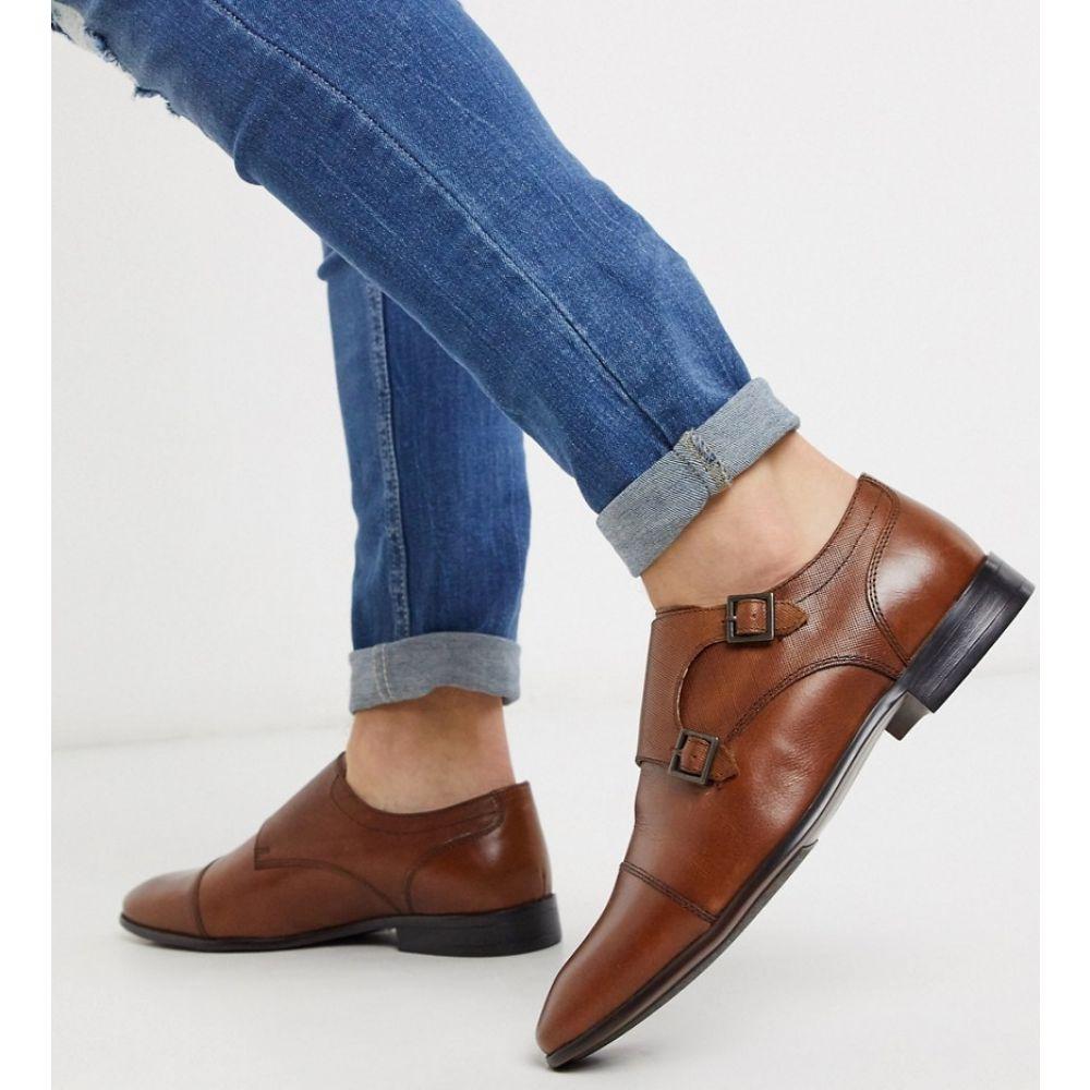 トップマン Topman メンズ 革靴・ビジネスシューズ シューズ・靴【monk shoe in tan】Tan