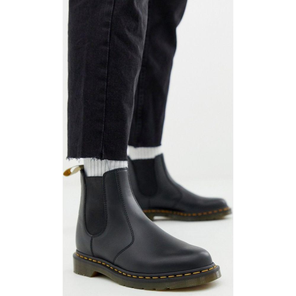 ドクターマーチン Dr Martens メンズ ブーツ チェルシーブーツ シューズ・靴【vegan 2976 chelsea boots in black smooth】Black