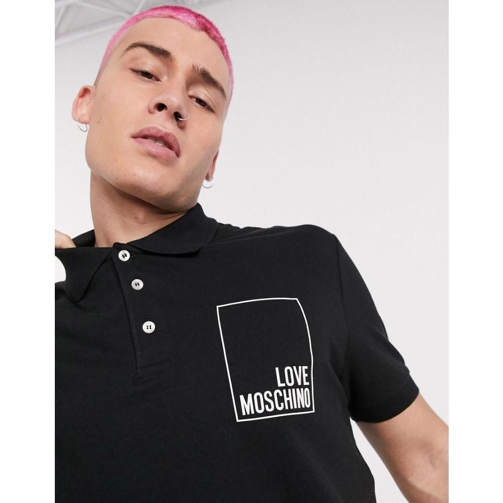 モスキーノ Love Moschino メンズ ポロシャツ トップス【logo polo shirt in black】Black