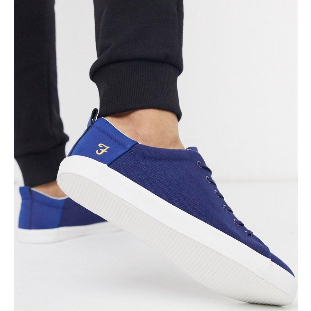 ファーラー Farah メンズ スニーカー シューズ・靴【canvas trainer in blue】Blue