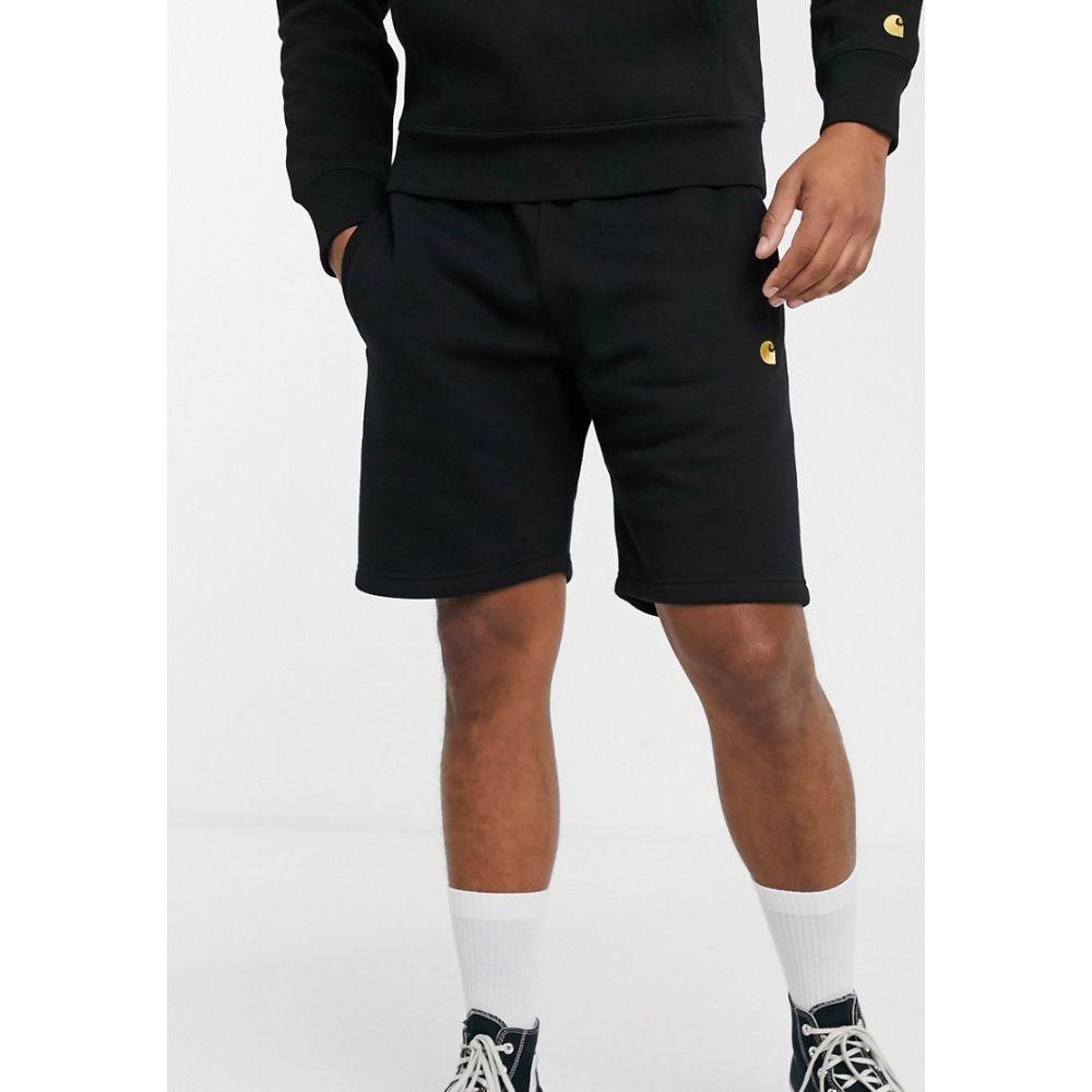 カーハート Carhartt WIP メンズ ショートパンツ ボトムス・パンツ【Carhart WIP Chase sweat short in black】Black/gold