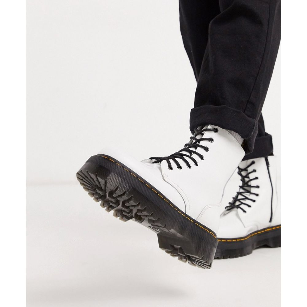 ドクターマーチン Dr Martens メンズ ブーツ シューズ・靴【jadon platform boots in white leather】White