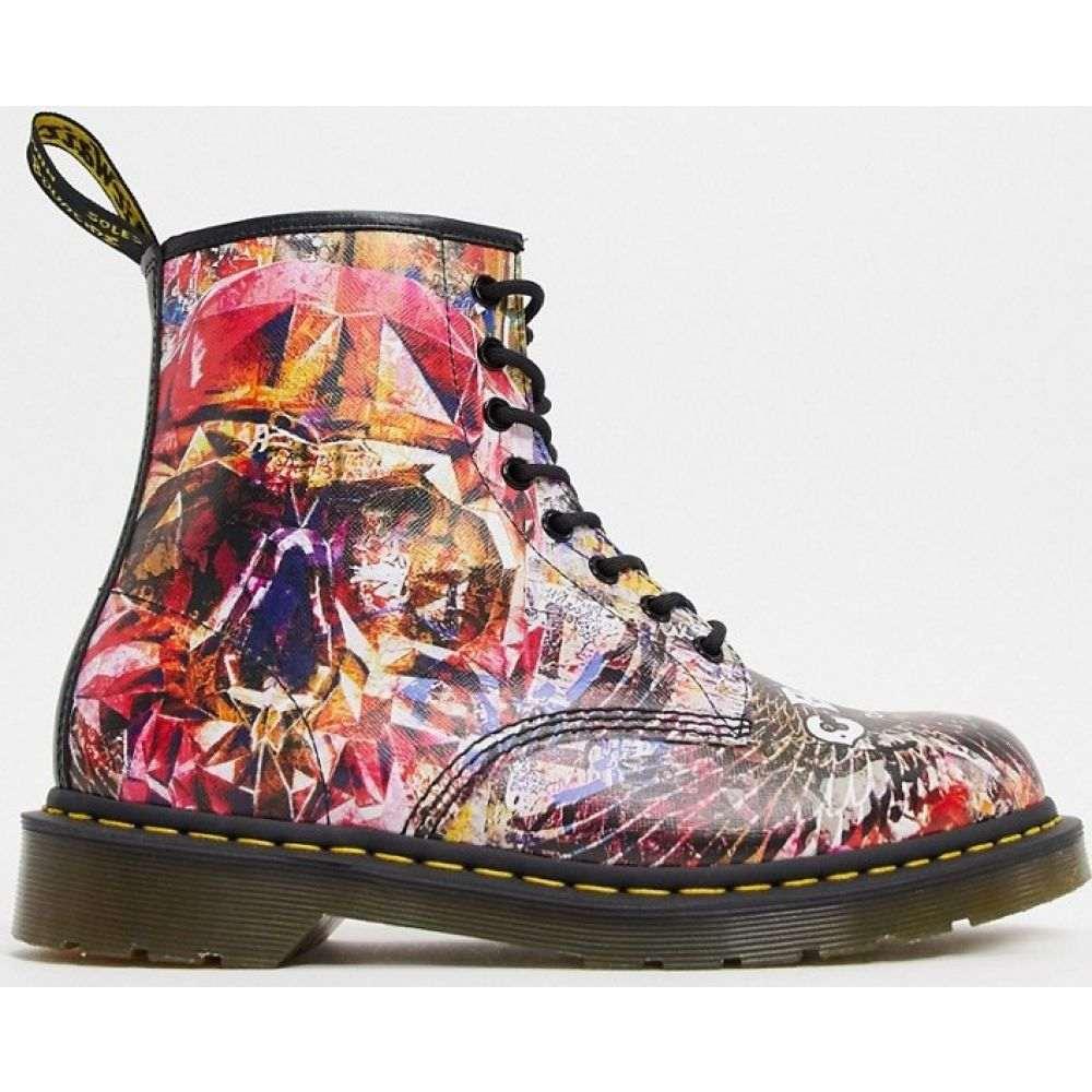 ドクターマーチン Dr Martens メンズ ブーツ シューズ・靴【x CBGB 1460 8 eye boots in Multiskull print】Multi