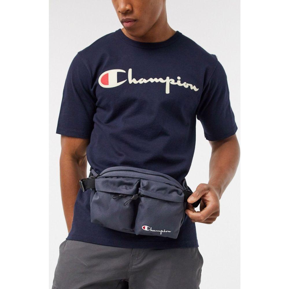チャンピオン Champion メンズ ボディバッグ・ウエストポーチ バッグ【Cordura bum bag in grey】Blue chc
