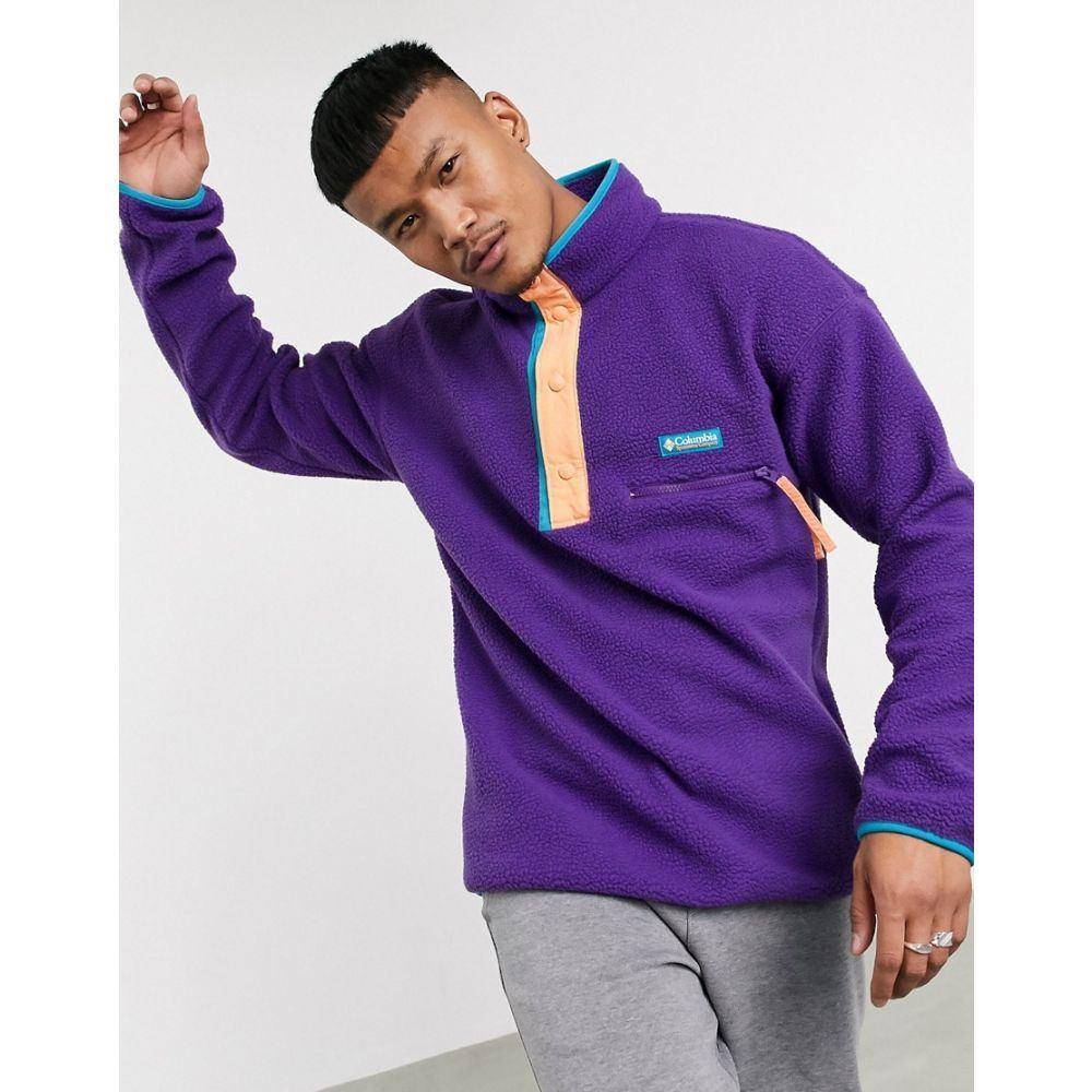 コロンビア Columbia メンズ フリース トップス【Helvetia half snap fleece in purple】Purple
