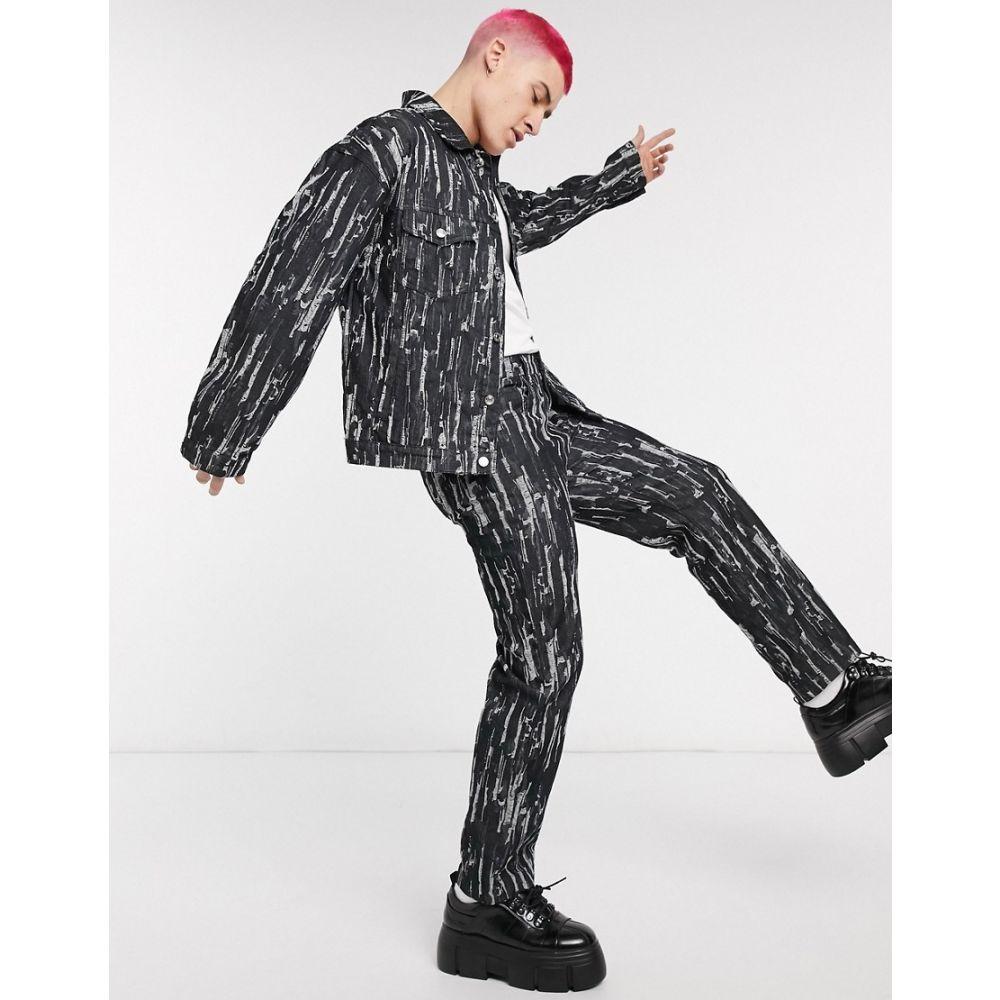 ジェイディッド ロンドン Jaded London メンズ ジーンズ・デニム リップドジーンズ ボトムス・パンツ【co-ord drag ripped jeans in black】Black