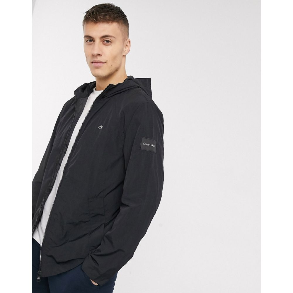 カルバンクライン Calvin Klein メンズ ジャケット アウター【crinkle nylon jacket in black】Black