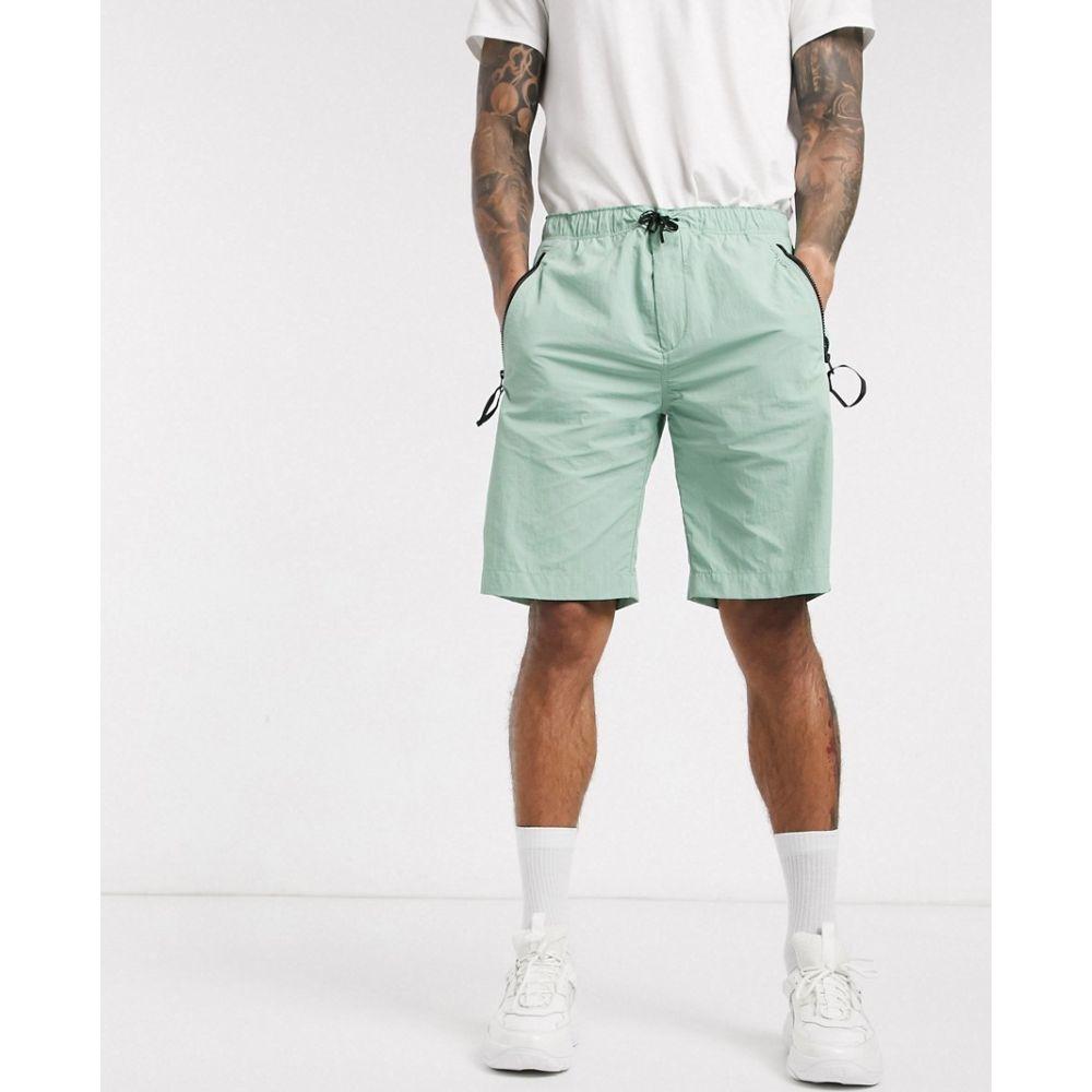 カルバンクライン Calvin Klein メンズ ショートパンツ ボトムス・パンツ【crinkle nylon shorts in green】Green