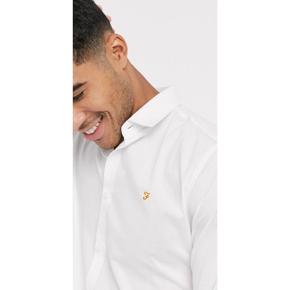 ファーラー Farah メンズ シャツ トップス【Handford slim long sleeve shirt】White
