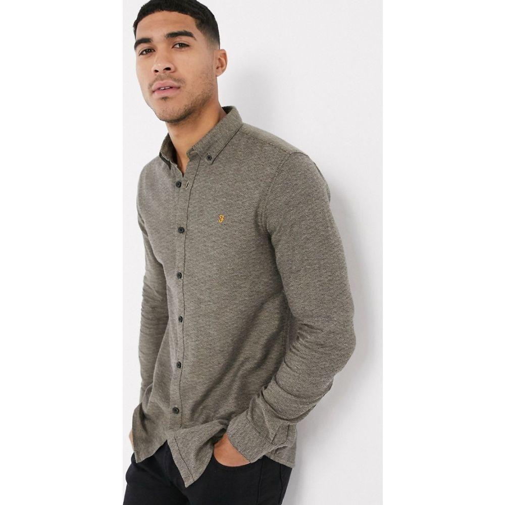 ファーラー Farah メンズ シャツ トップス【Kreo slim long sleeve shirt】Brown