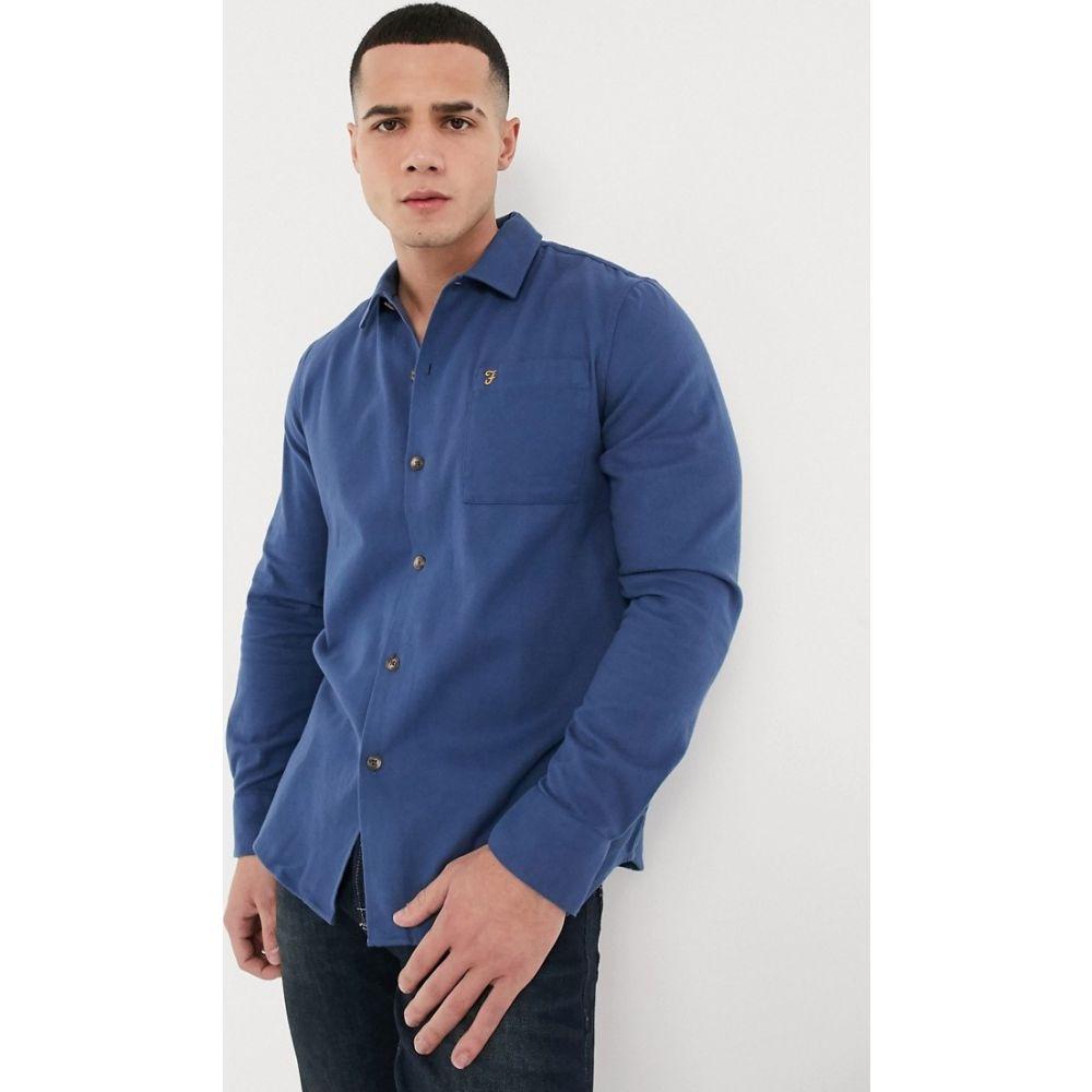 ファーラー Farah メンズ シャツ トップス【Lindner long sleeve shirt】Blue