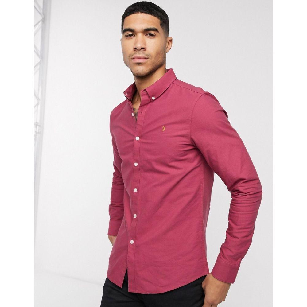 ファーラー Farah メンズ シャツ トップス【Brewer slim long sleeve shirt】Red