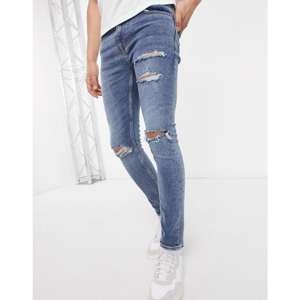 ニュールック New Look メンズ ジーンズ・デニム ボトムス・パンツ【super skinny jeans in mid blue】Mid blue