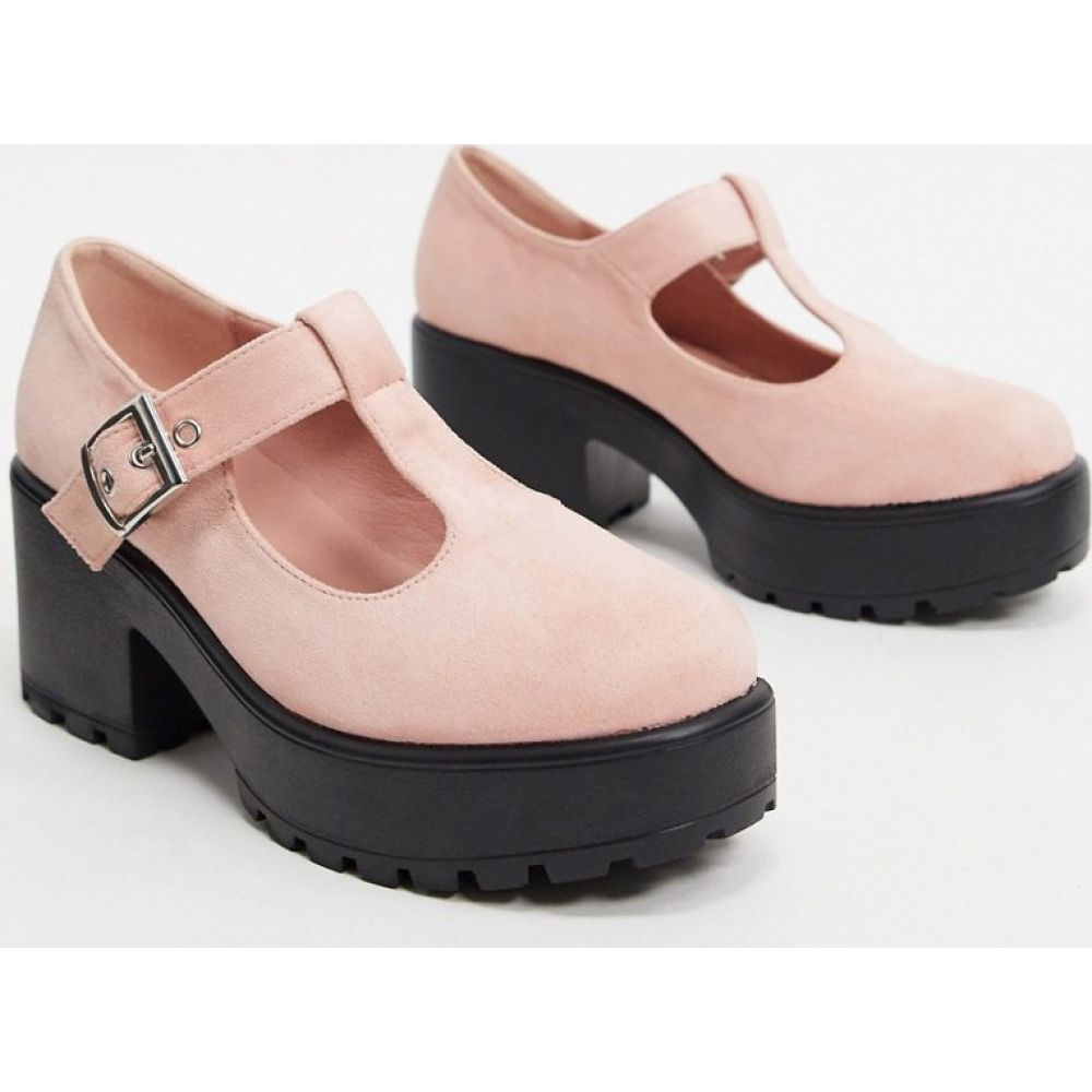 コイフットウェア Koi Footwear レディース ヒール シューズ・靴【Sai vegan mary jane heeled shoe in pink】Pink