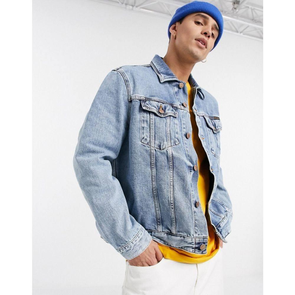 ヌーディージーンズ Nudie Jeans メンズ ジャケット Gジャン アウター【Co Jerry indigo gaze denim jacket】Blue