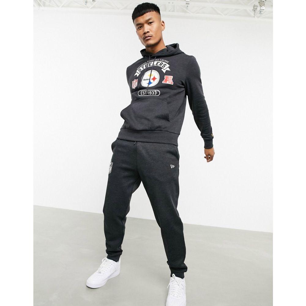 ニューエラ New Era メンズ パーカー トップス【NFL Pittsburgh Steelers patchwork hoodie in grey】Grey