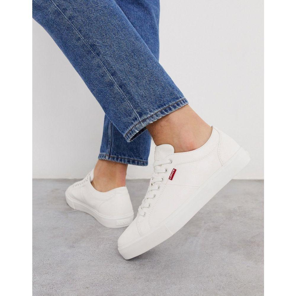 リーバイス Levi's メンズ スニーカー シューズ・靴【woodward trainers in white】White