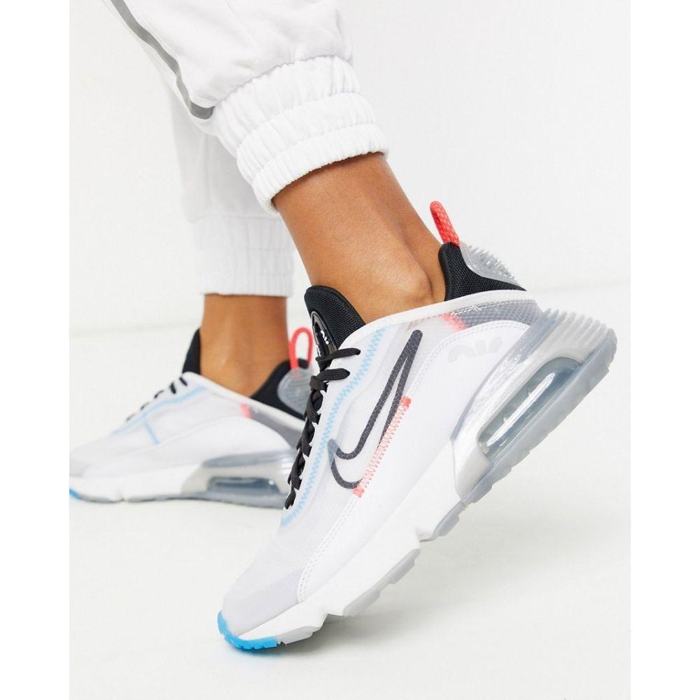 ナイキ Nike レディース スニーカー シューズ・靴【Air Max 2090 Trainers in white and blue】White/black