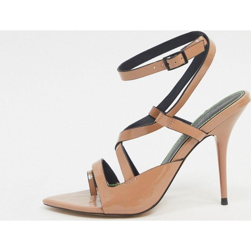 エイソス ASOS DESIGN レディース サンダル・ミュール シューズ・靴【Nash pointed insole heeled sandals in beige】Beige patent