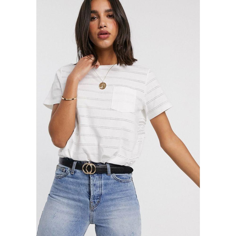 フレンチコネクション French Connection レディース Tシャツ トップス【robinette jersey sleeve t-shirt in stripe】Summer white