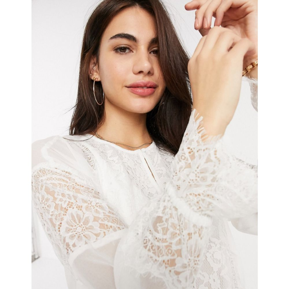 フレンチコネクション French Connection レディース ブラウス・シャツ トップス【abella mix tie sleeve blouse in white】Summer white