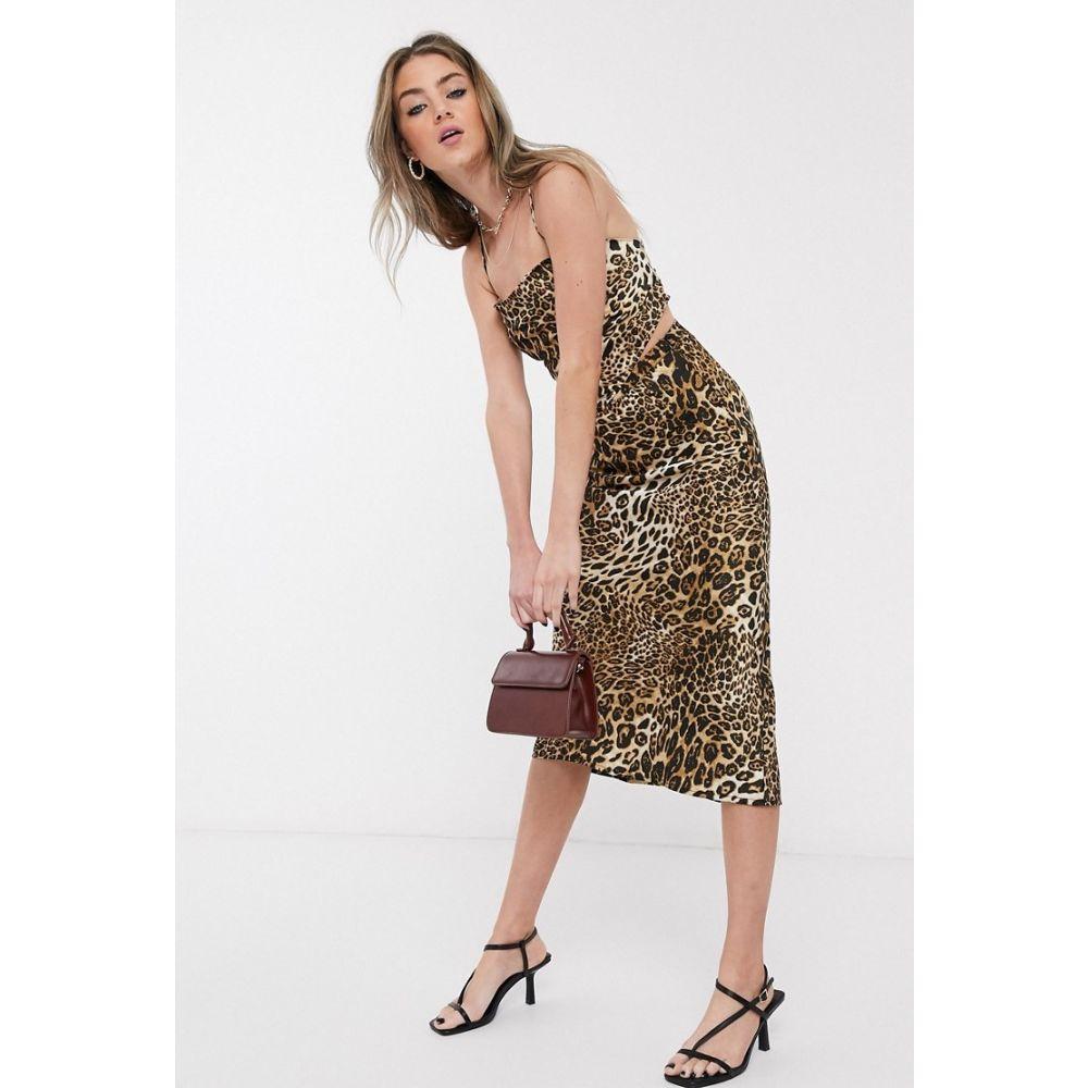 ジャガーストーン Jagger and Stone レディース トップス 【Jagger & Stone 90's hankerchief top in leopard print satin co-ord】Leopard