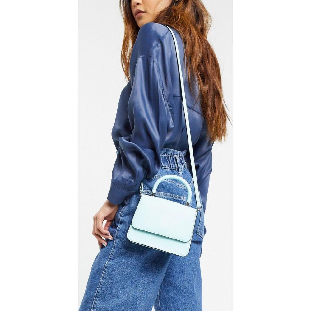フー ワット ウェアー Who What Wear レディース ショルダーバッグ バッグ【Casey mini bag with cross body strap in bleached aqua】Bleached aqua