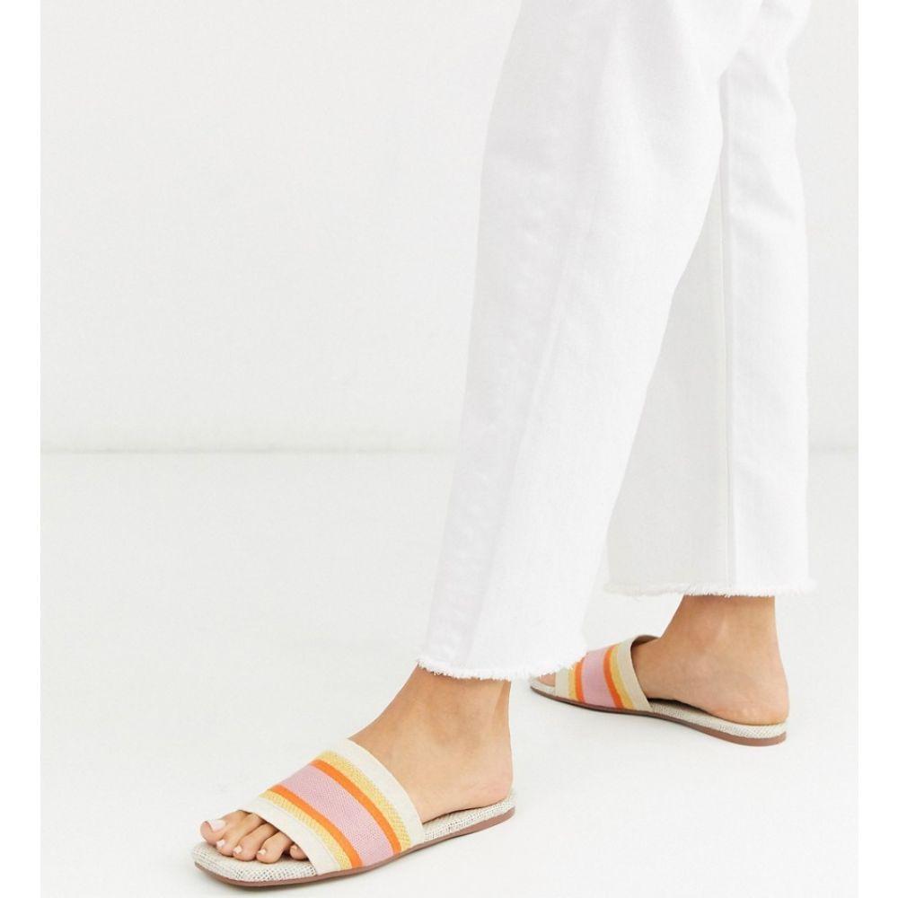 エイソス ASOS DESIGN レディース サンダル・ミュール シューズ・靴【Fulham stripe mule sandals in natural】Natural