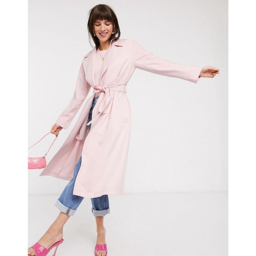 アンドアザーストーリーズ & Other Stories レディース トレンチコート アウター【belted lightweight trench coat in pastel pink】Pastel pink