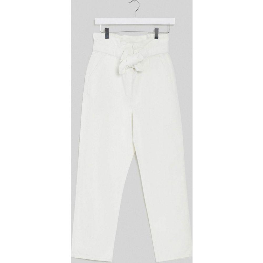アンドアザーストーリーズ & Other Stories レディース ジーンズ・デニム ボトムス・パンツ【belted tapered jean in off white】Off white