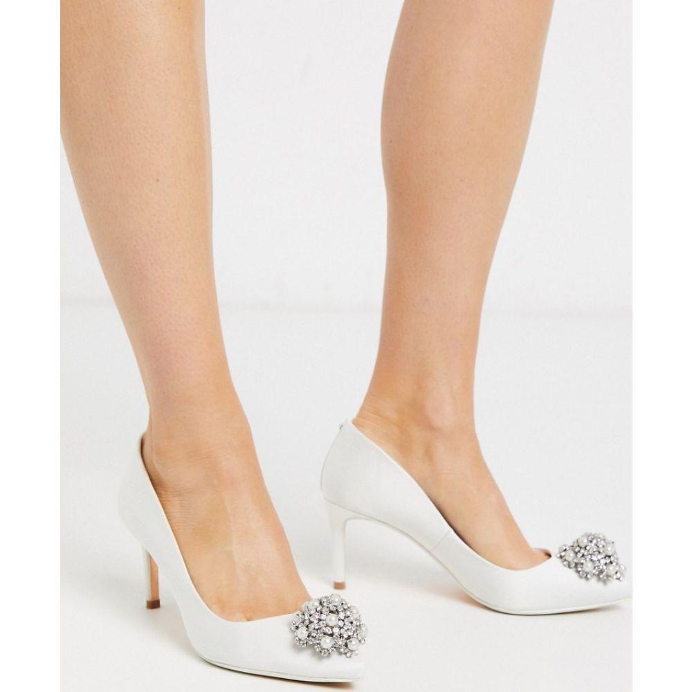 テッドベーカー Ted Baker レディース パンプス シューズ・靴【satin court shoes with embellishment in ivory】Ivory