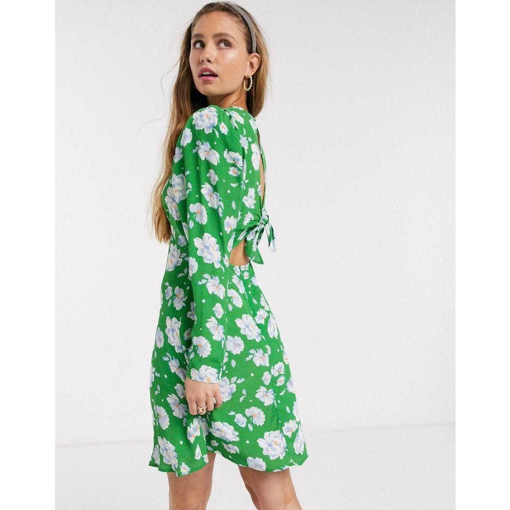 ゴースト Ghost レディース ワンピース ミニ丈 ワンピース・ドレス【evonna floral crepe mini dress with tie back in ariva floral】Ariva floral