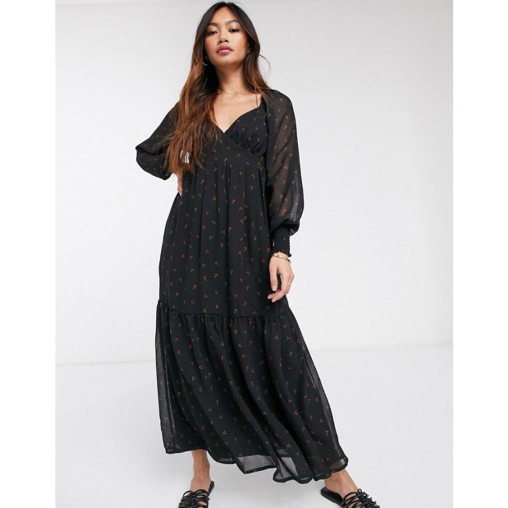 ヴィラ Vila レディース ワンピース マキシ丈 ワンピース・ドレス【lace detail maxi dress in black】Black