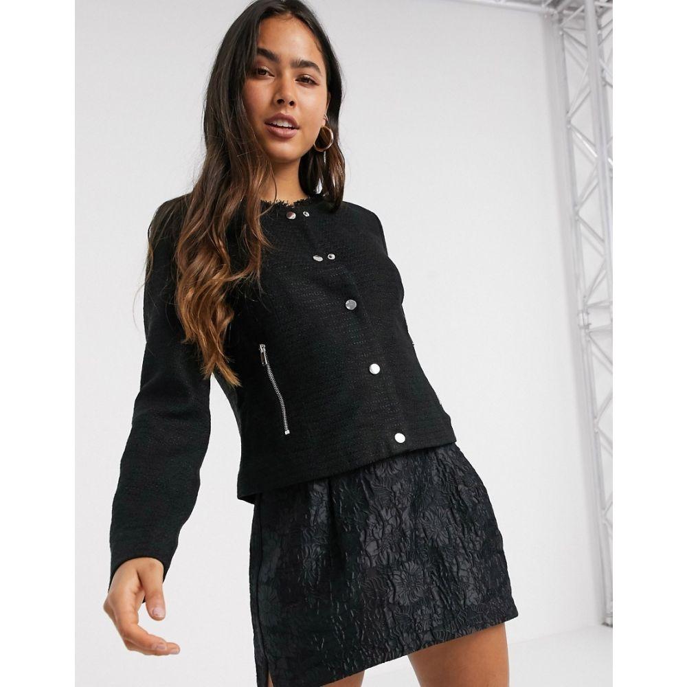 ヴェロモーダ Vero Moda レディース スーツ・ジャケット アウター【cropped button front blazer in black】Black
