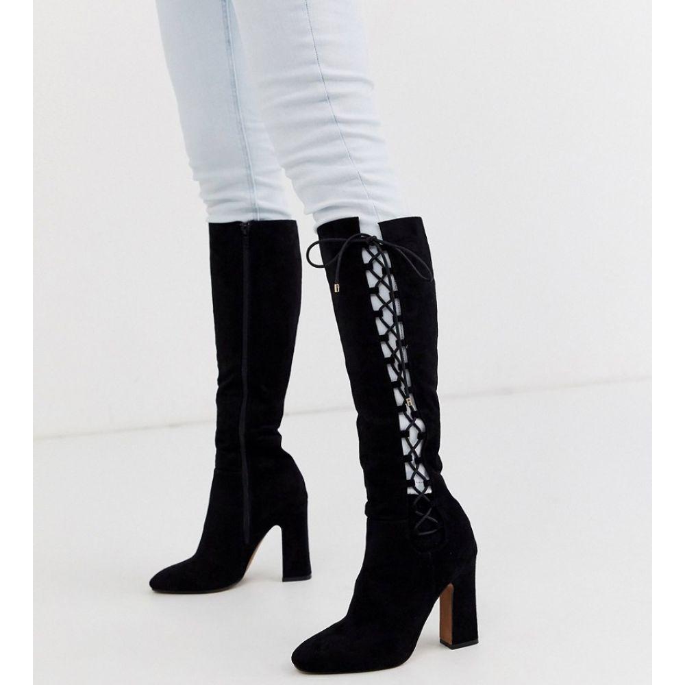 エイソス ASOS DESIGN レディース ブーツ ロングブーツ シューズ・靴【Cecily high heeled knee boot in black】Black