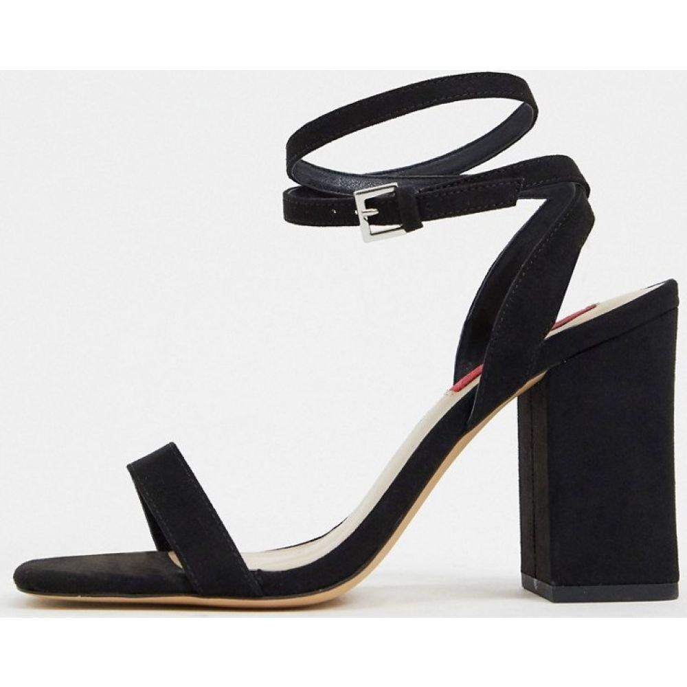 ロンドン レーベル London Rebel レディース サンダル・ミュール シューズ・靴【block heel barely there sandal in black】Black