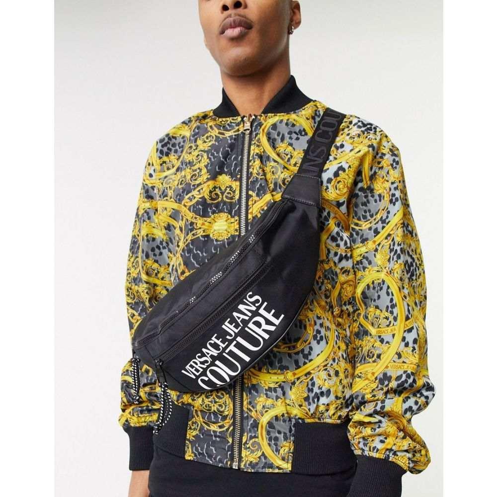ヴェルサーチ Versace Jeans Couture メンズ ボディバッグ・ウエストポーチ バッグ【logo bum bag in black】Black