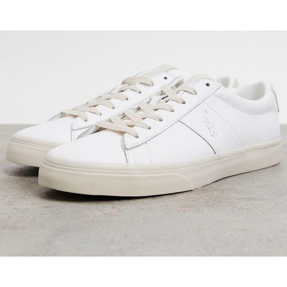 ラルフ ローレン Polo Ralph Lauren メンズ スニーカー シューズ・靴【sayer leather trainer in white】White