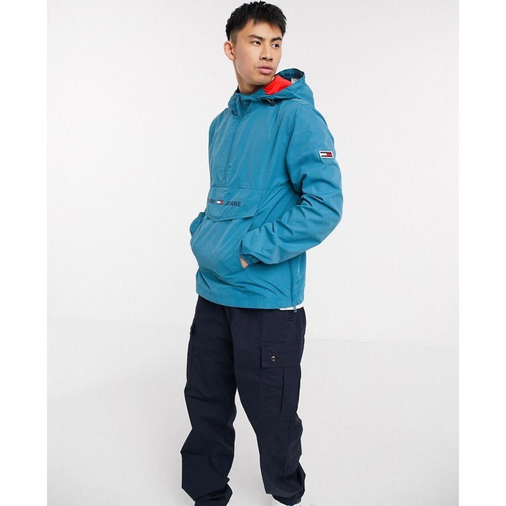 トミー ジーンズ Tommy Jeans メンズ ジャケット アウター【Tommy Hilfiger Jeans lightweight popover jacket】Blue