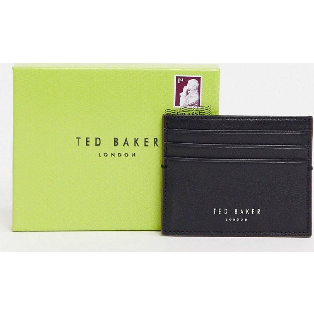 テッドベーカー Ted Baker メンズ カードケース・名刺入れ カードホルダー【Cascade leather card holder in black】Black