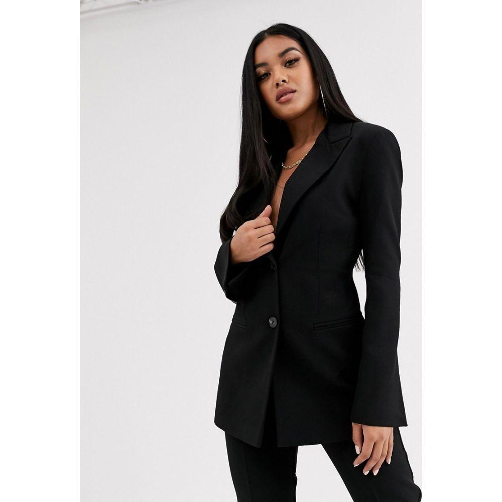 エイソス ASOS DESIGN レディース スーツ・ジャケット アウター【pop suit blazer in black】Black