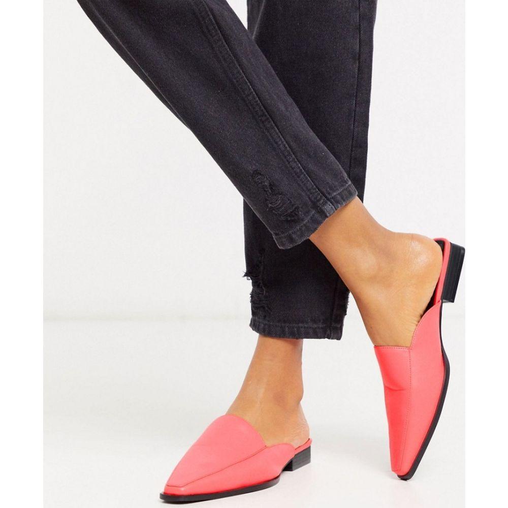 エイソス ASOS DESIGN レディース サンダル・ミュール シューズ・靴【Maximus flat mules in bright pink】Bright pink