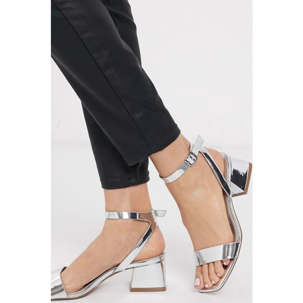 エイソス ASOS DESIGN レディース サンダル・ミュール シューズ・靴【Hocco block heeled sandals in silver】Silver